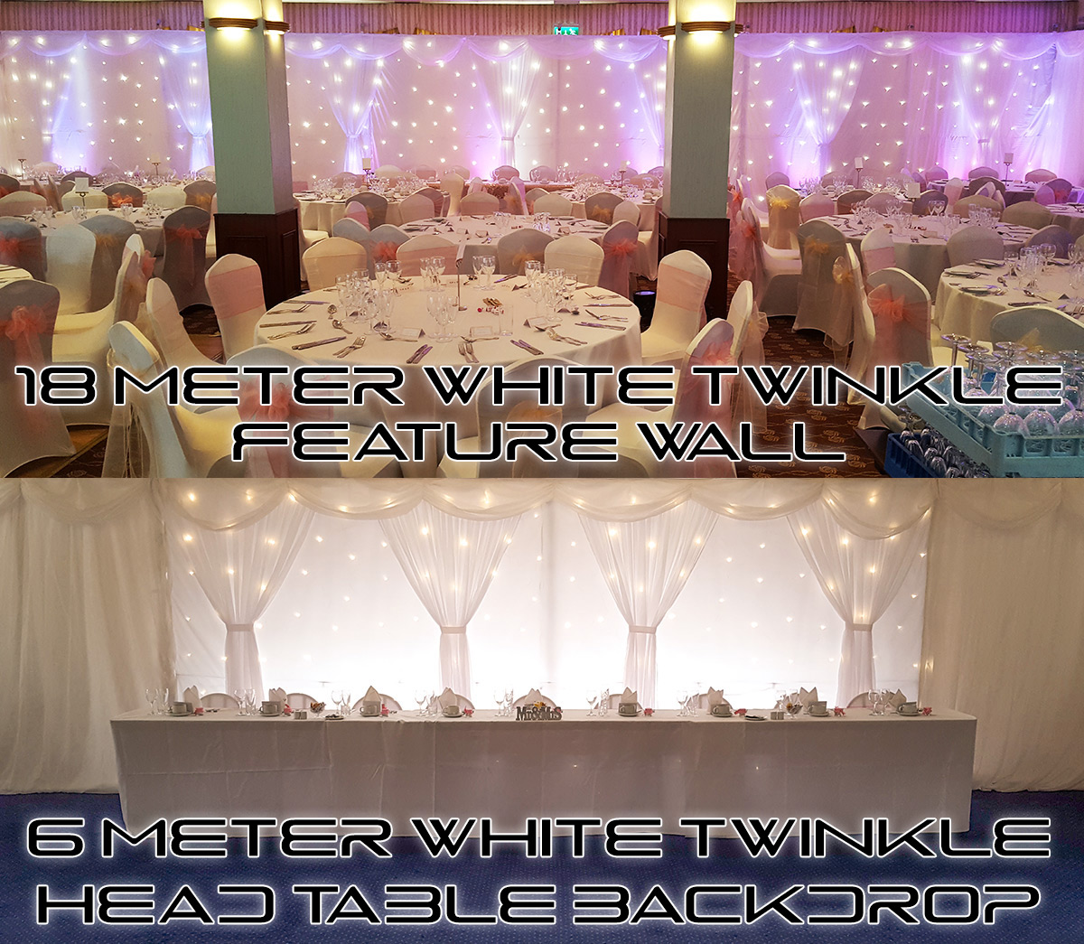 White Twinkle Backdrops