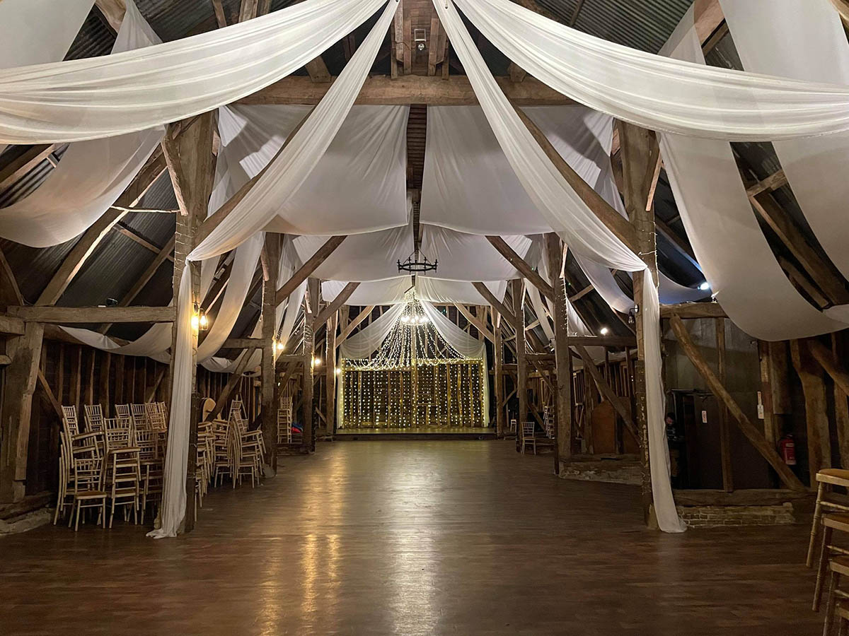 Manor Barn Drape install 1- Equinox-Storm